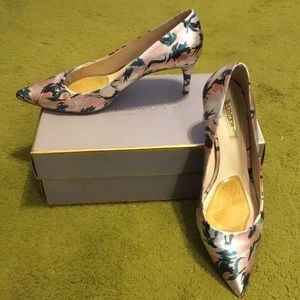 Louise et Cie Jordyna Metallic Floral Pumps, 9.5M